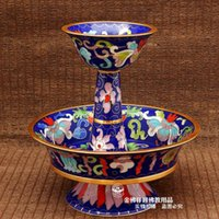 Wholesale Cloisonne polished inch Custodian cup Tantric Buddhism supplies