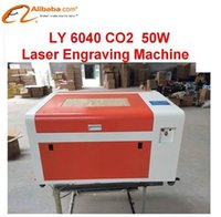 Wholesale Latest LY CO2 Laser Engraving machine W V V laser CNC router with rotary axis