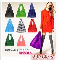 no min order - Japan BAGGU square pocket Shopping bag min order many colors available Eco friendly reusable folding handle Bag EMS or DHL Fast Ship to AU