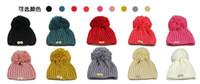 button skull - Fashion Women Winter Warm Ski Chunky Ribbed Button Bobble Hat Beanie ON SALE good quality LB17