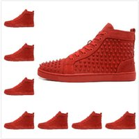 Cheap red bottom mens sneakers shoes casual Best black flats high top mens casual shoes