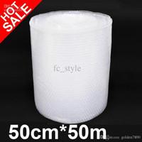 Wholesale Bubble Cushioning Wrap PE Bubble film transparent bubble film Cushioning Wrap cmX50m high quality low price