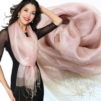 Wholesale Mulberry silk Fashion high grade real silk scarves Ms Mulberry silk double elegant silk scarf HS005