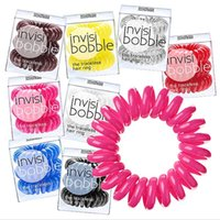 hair rubber band - 5Pack Telephone Wire Line Cord Original InvisiBobble Traceless Hair Ring Gum Scrunchy Hair Accessories For Girl