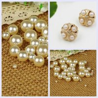 Wholesale Mixed Size Ivory No Hole Round Pearls Imitation Pearls Craft Art Diy Beads Nice Shine And Light
