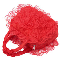 Wholesale Bridal wedding bride bag bag bridesmaid handbag bright red bud silk female bag cosmetic bag