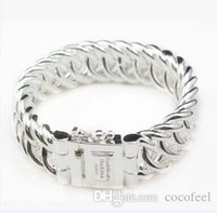 Wholesale New fashion BTB bangle silver Jewelry BTB Men s Bracelets Buddha to Buddha Bracelet silver classic chain bigger style