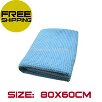 best microfiber towels for car - The Best Water Magnet Microfiber Drying Towel with Waffle Weave design for Car Hair Bath Kitchen Dogs quot X quot Blue A5 A5