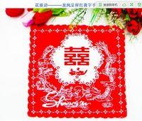 bags handkerchief - marriage wave flower red handkerchiefs happy character cotton women handkerchief bag of sugar bandana classic essential cm