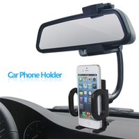Wholesale Car Rear View Mirror Mount Stand Phone Holder Stand suporte para capa celular For Apple iPhone quot quot Plus