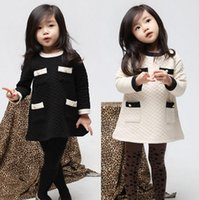 air line dresses - Vogue Fall and Winter Clothes Korean Air Cotton Winter Baby Girls Clothes Childrens Long sleeved Dress Son Kids RK86347