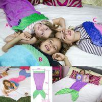 Wholesale Girl s mermaid sleeping bags boys shark sleeping bag Cotton green healthy environmental protection Cartoon pattern ABC three colors