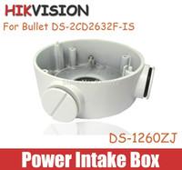 aluminium junction box - Hikvision Power Intake Box In Out DS ZJ IP camera bracket Aluminium Junction Back Box For DS CD2632F IS Hidden Junction Box