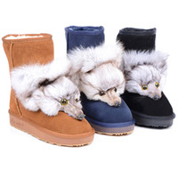 Wholesale womens classic snow boots Australia girl summer solstice knitting plush boots button boots womens boots caddice glitter2009