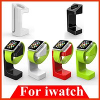 Wholesale e7 Dock Charging Holder Stand For iWatch Apple Watch Plastic display Docking Station Desktop Charger mm to mm White Black Red Green
