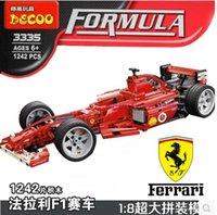Wholesale decool F1 Formula Racing Toy building blockshigh quality boy gifts car model self locking bricks