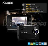 Wholesale Car DVR Recorder K6000 Retail Box Full HD Vehicle Cameras Camcorder quot P Vehicle Black Box DVR Night Version Wide Angle Lens