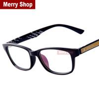 Wholesale 2015 Student Spectacles Eye wear Frame Women Men Glasses Plastic Frames Decoration Goggles Point Reading Glasses Purple coating