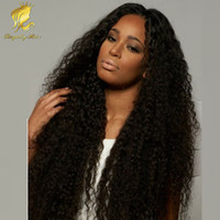america human hair wig - Hot selling U part wig Brazilian Human hair Afro kinky curly long Human hair lace front wigs for african america
