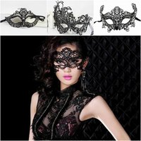 Wholesale NEWEST Halloween Mask Lace Masquerade Masked Ball Props Christmas Party Mask Style Choose ZXD
