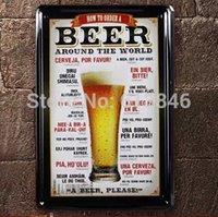 Cheap Free shipping Beer paiting Tin Sign Bar pub decorative drawing Home Wall Decor Retro Metal Art Poster
