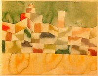 One Panel architecture for sale - Paul Klee painting for sale Abstract art oil Canvas Oriental Architecture hand painted High quality
