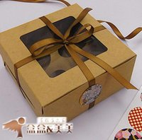 Wholesale Baking packaging cattle card four cup muffin cake box box of west point moon cake box