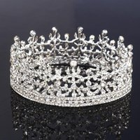 Wholesale Crystal Hair Crown Tiaras Elegant Women Wedding Bridal Hair Jewelry Silver Plated High Quality In Stock