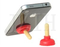 apple brand personality - Creative personality silicone stents mobile phone holders rubber toilet sucker stand non slip plunger stand holder for phone