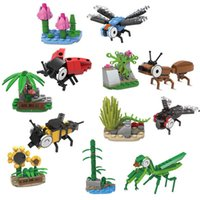 ant world toy - Insects World Mantis Dragonfly Bee Flies Ants Minifigures Building Blocks Action Figures Toys Kids Toys With Plant Minifigures
