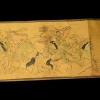 Wholesale Collection of Chinese scroll painting on silk YueFeiKang gold