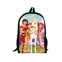 american girl mia - Trendy D Cartoon Princess Printing Child s Backpack for Teenager Girls Cute Mia and Me Kids School Backpacks Outdoor Horse Bags