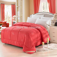 Wholesale Thick warm winter bed quilts wool quilt Single or double quilted bedding set Soft and comfortable blanket High density king