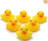 Cheap 60PC Wholesale Bulk Lots Cute Rubber Ducks baby kids Children bath Toy 4x4x4.5CM