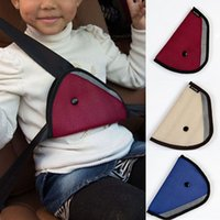Wholesale Car Accessories Comfortable Child Car Seat Belt Holder Triangle Colors Drop Shipping CAR