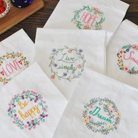 Wholesale 100 Cotton Embroidery Tea Towel x70cm Cloth napkin Cover towels Kitchen wipes Picnic cloth