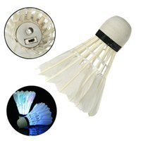Wholesale Beautiful Design Dark Night Colorful LED Lighting Badminton Outdoor Sport Feather Shuttlecock