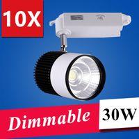 led track lighting - 2016 LED lights Retail W COB Dimmable Led Track Light Spot Wall Lamp Soptlight Tracking led AC85 V light