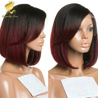 ace wigs - Two tone lace front wig ombre short bob wig b j full lace human hair wigs for black women brazilian ace wig