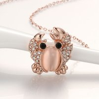 beautiful crabs - Hot Sale k rose gold necklace for women beautiful shiny crab necklace Austrian Crystal statement necklace Best Gifts KN841 B