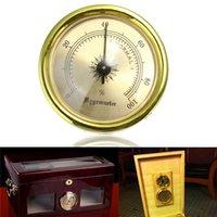 Wholesale Hot Sale Vintage GOLD Color Smoking Tobacco Hygrometer for Cigar Humidor Humidors MM order lt no track