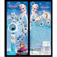 Wholesale 2014 New Frozen Watch with of Cartoon Character Picture Projection for kids favorite Christmas birthday gift frozenc742 set