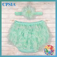 baby ruffle bloomers pattern free - DHL Free Baby Ruffle Shorts Lace Patterns Baby Panties Bloomers With Headband Set