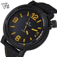 brand name watches - Famous brand name V6 import quartz movement silicone straps watch analog relogio clock casual fashion men quartz watches