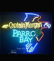 bay eagle - Captain Morgan PARROT BAY Eagle Art Neon Sign Nikke Air Jorrdan Neon Sign Beer Bar Neon Light Sign Gift Real Glass Tube x24