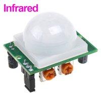 Wholesale White Pyroelectric Infrared PIR Motion Sensor Detector Module Dropshipping order lt no track