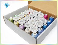 Wholesale Simthread M yard Polyester Embroidery Machine Thread Brother colors D kit