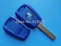 blank car key - High Quality Fiat Button Remote Key Shell Case Blank Cover Blue With SIP22 Blade