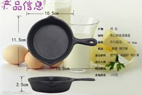 Wholesale mini pre seasoned Cast iron egg fry pan mini cast iron pan griddle Mini loaf pans roast pan frypan skillets