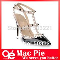 ancient roman shoes - 2016 new women shoes sandals paint Roman rivet sexy legs fine with ultra high restoring ancient ways wedding shoes